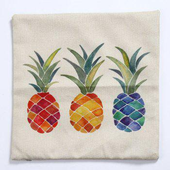 High Quality Colorful Pineapple Pattern Square Shape Pillow Case(Without Pillow Inner) - COLORMIX
