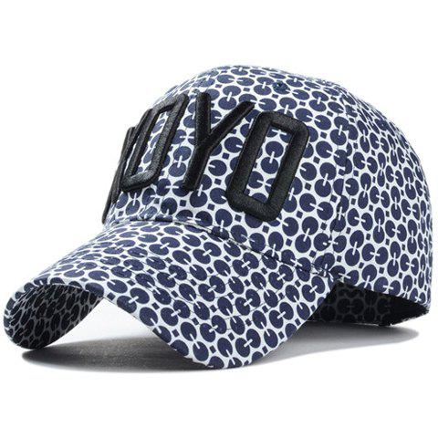 Chic Letter Embroidery Sequins Pattern Women's Baseball Cap - CADETBLUE