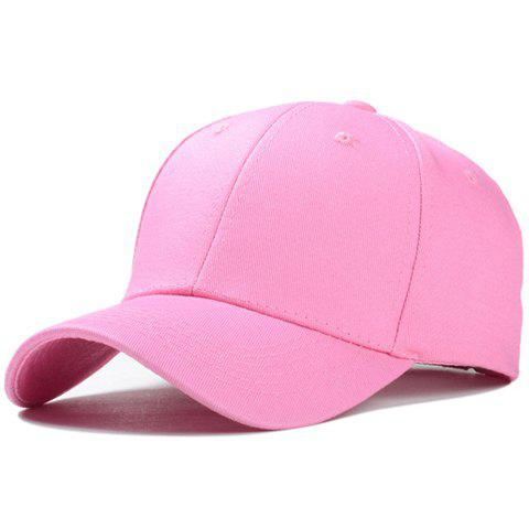 Stylish Solid Color Men and Women's Baseball Cap - PINK