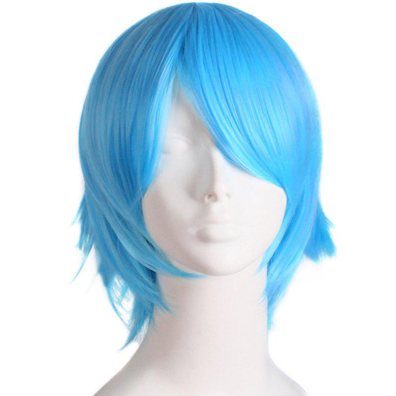 Fashion Straight Synthetic Anti Alice Hair Harajuku Cosplay Wig For Men - AZURE