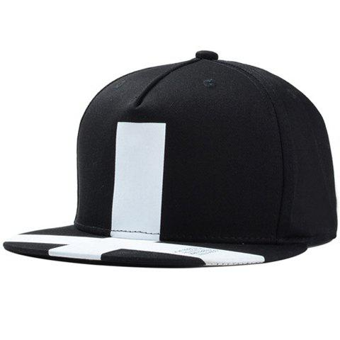 Stylish White Big Cross Pattern Men's Baseball Cap
