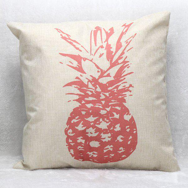 High Quality Pink Pineapple Pattern Square Shape Pillow Case(Without Pillow Inner) - COLORMIX