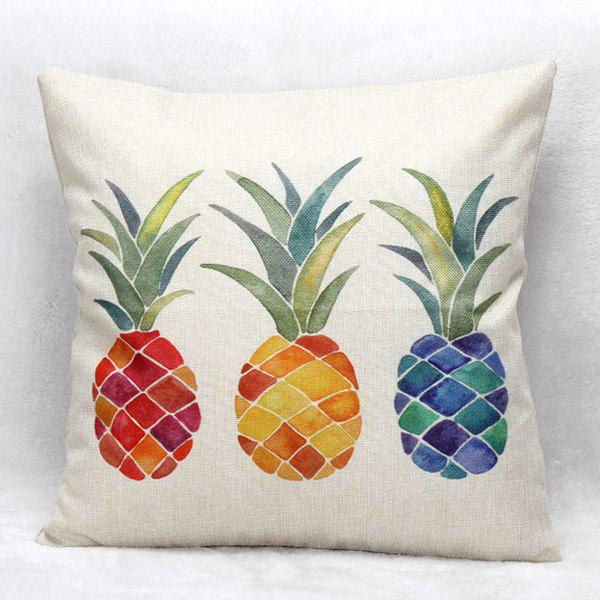High Quality Colorful Pineapple Pattern Square Shape Pillow Case(Without Pillow Inner)