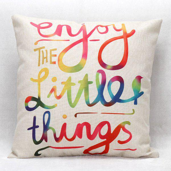 High Quality Colorful Letter Printed Square Shape Pillow Case(Without Pillow Inner) - COLORMIX
