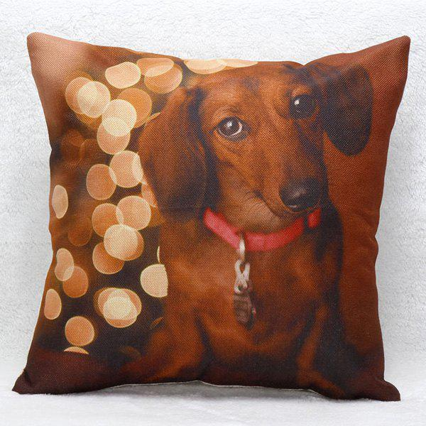 High Quality Dachshund Pattern Square Shape Pillow Case(Without Pillow Inner) - COLORMIX