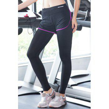 Chic Faux Twinset Slit Bodycon High Stretchy Women's Yoga Pants