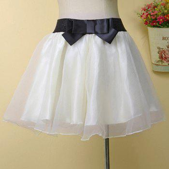 Stylish Women's Bowknot Organza Skirt