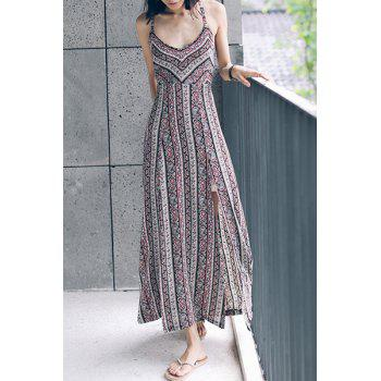 Spaghetti Strap Self Tie Dress For Women