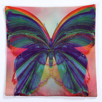 High Quality Butterfly Pattern Square Shape Pillow Case(Without Pillow Inner) - COLORMIX