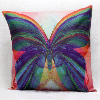 High Quality Butterfly Pattern Square Shape Pillow Case(Without Pillow Inner)