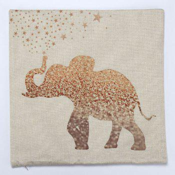 High Quality Elephant Pattern Square Shape Pillow Case(Without Pillow Inner) - COLORMIX