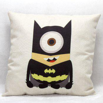 High Quality Minion Cosplay Batman Pattern Square Shape Pillow Case(Without Pillow Inner)