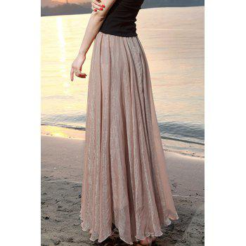 Fashionable Women's Solid Color Maxi Skirt