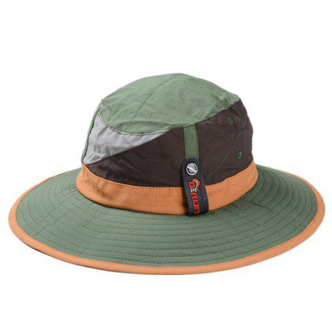 Stylish Color Block Men and Women's Sun Hat - GREEN