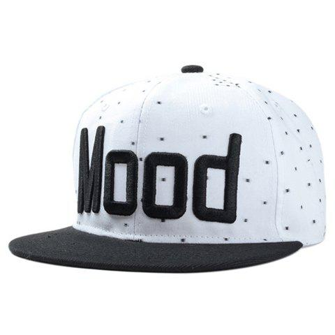 Chic Letter Shape Embroidery Dots Pattern Baseball Cap For Women