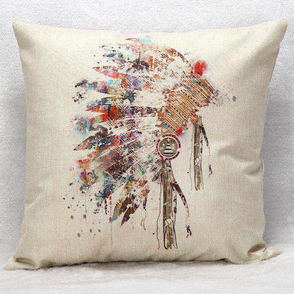 High Quality Colorful Indian Headwear Printed Pattern Square Shape Pillow Case(Without Pillow Inner) - COLORMIX