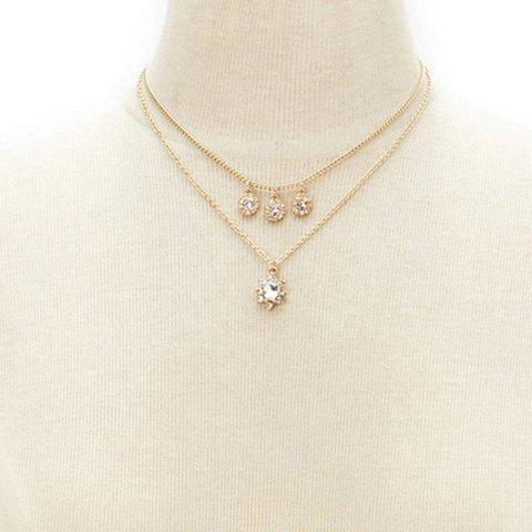 Graceful Layered Rhinestoned Round Necklace For Women