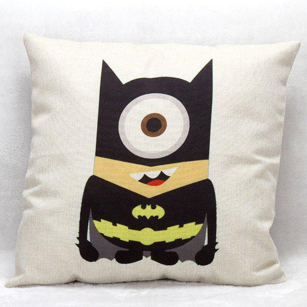 High Quality Minion Cosplay Batman Pattern Square Shape Pillow Case(Without Pillow Inner) - COLORMIX