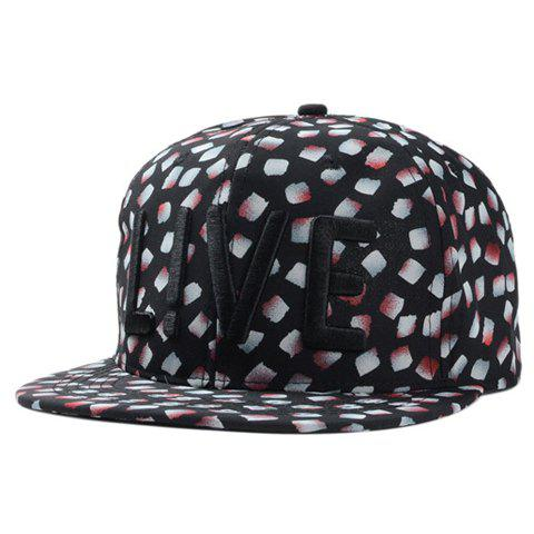 Chic Letter Embroidery Fulled Petal Pattern Women's Baseball Cap - BLACK