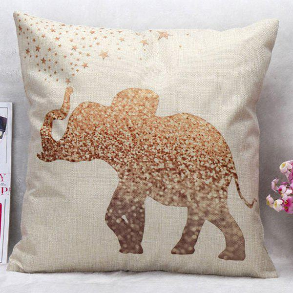 High Quality Elephant Pattern Square Shape Pillow Case(Without Pillow Inner)