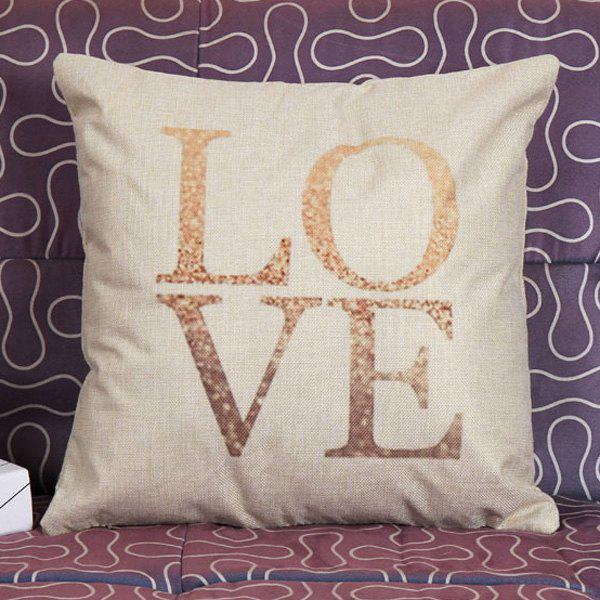 High Quality Love Pattern Square Shape Pillow Case(Without Pillow Inner)