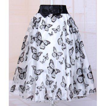Fashionable Women's Butterfly Organza Skirt