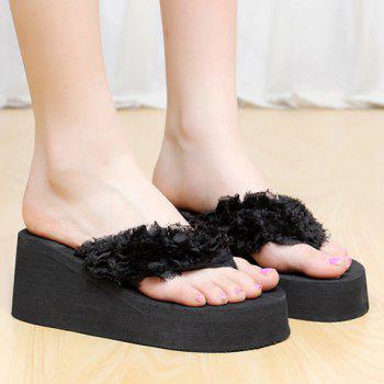 Leisure Flip Flop and Cloth Design Women's Slippers - 37 37