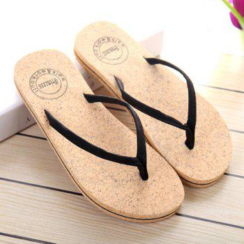 Concise Solid Color and Flip Flop Design Women's Slippers - 39 39
