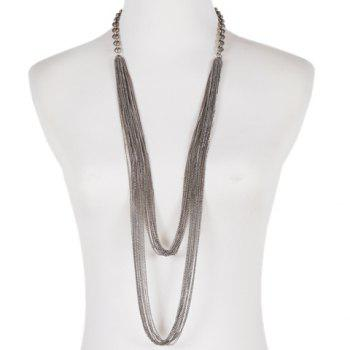 Simple Style Multilayered Link Chains Sweater Chain For Women - SILVER GRAY SILVER GRAY
