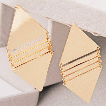 Pair of Triangle Drop Earrings - GOLDEN