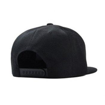 Fashionable Cartoon Dog Letters Embroidery Street Dance Baseball Cap - BLACK