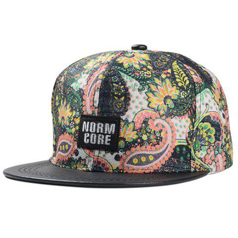 Fashionable Letters Embroidery Floral Print Pattern Baseball Cap For Women от Dresslily.com INT