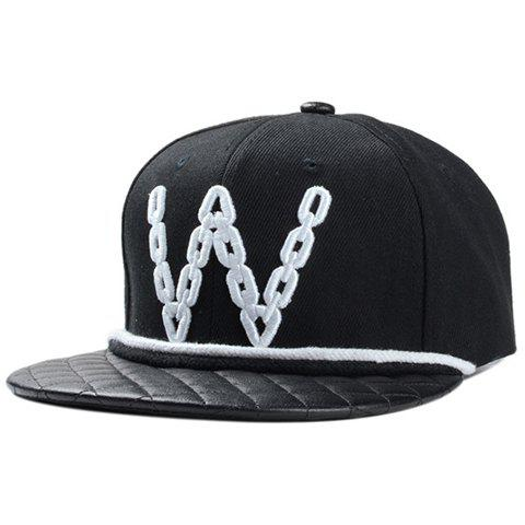 Fashionable Interesting Letter Embroidery Street Dance Baseball Cap - BLACK