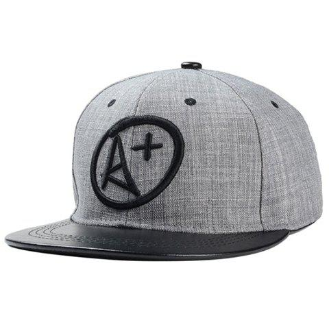 Fashionable Letters Symbol Embroidery Baseball Cap For Men - BLACK