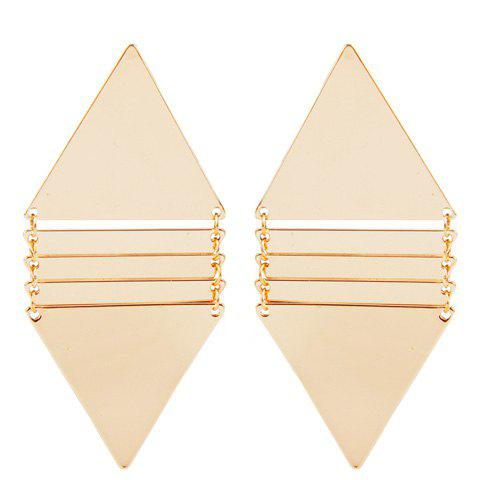 Pair of Punk Style Solid Color Triangle Earrings For Women -  GOLDEN