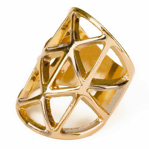 Hollow Geometric Ring - GOLDEN ONE-SIZE