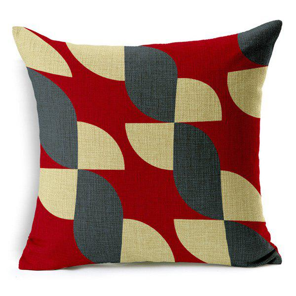 High Quality Square Shape Colorful Geometric Pattern Cotton Linen Pillow Case(Without Pillow Inner)
