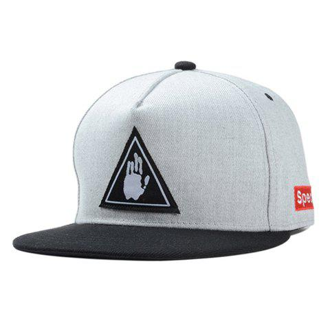 Fashionable Letters Palm Embroidery Street Dance Baseball Cap - GRAY
