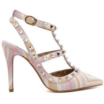 Sweet Color Block and Rivets Design Pumps For Women - 39 39