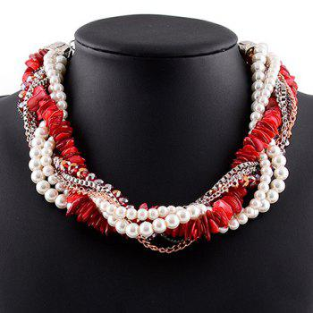 Faux Pearl Beads Necklace