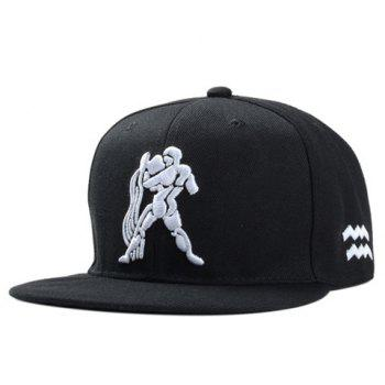 Stylish Strong Man Embroidery Men's Black Baseball Cap