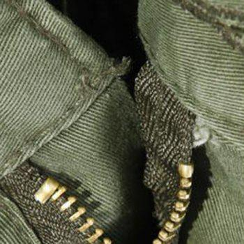 Loose Fit Multi-Pocket Solid Color Zipper Fly Straight Leg Men's Cargo Pants - EARTHY 36