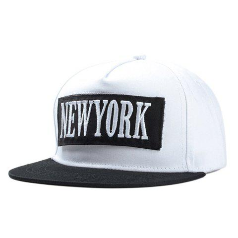 Stylish City Name Letters Embroidery Applique Men's Baseball Cap - WHITE