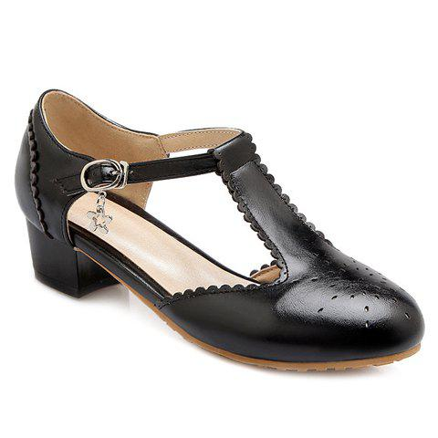 Casual T-Strap and Engraving Design Women's Flat Shoes от Dresslily.com INT