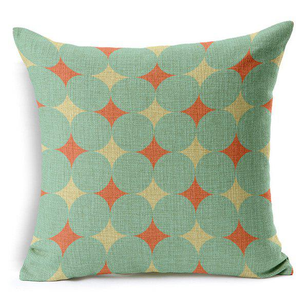High Quality Square Shape Simple Geometric Printed Cotton Linen Pillow Case(Without Pillow Inner) - COLORMIX