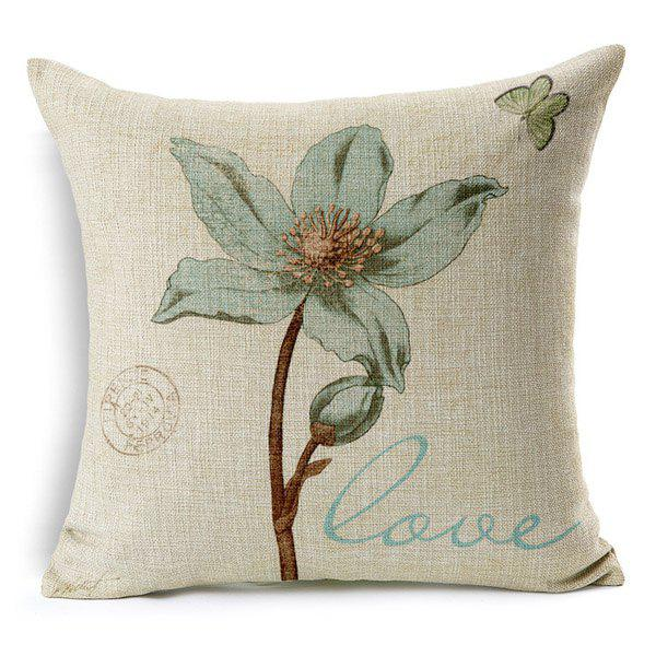 High Quality Vintage Flower Pattern Square Shape Pillow Case(Without Pillow Inner) - COLORMIX