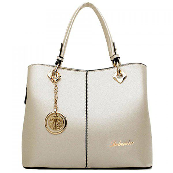 Fashion PU Leather and Pendant Design Tote Bag For Women
