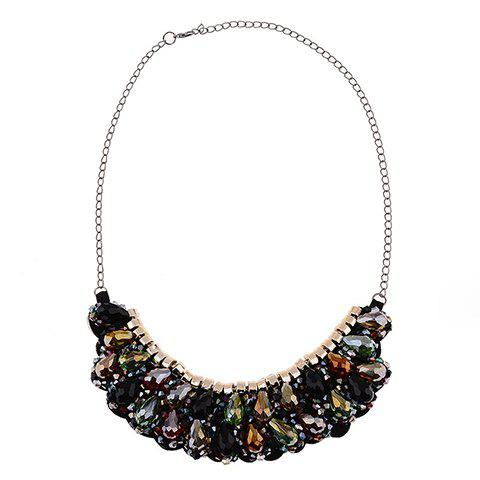 Stunning Exaggerated Water Drop Necklace For Women - COLORMIX