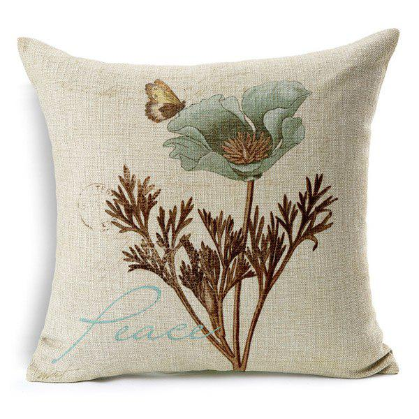 High Quality Blossom Pattern Square Shape Pillow Case(Without Pillow Inner) - COLORMIX