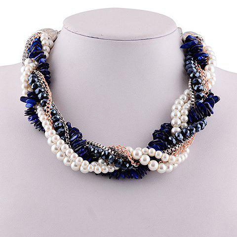 Graceful Exaggerated Faux Pearl Beads Necklace For Women